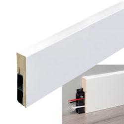 Stijlplint blok witfolie kabel 18x80mm
