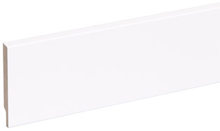 Stijlplint blok wit gelakt 12x80mm